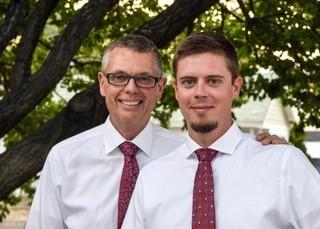 Dr. Dennis Verner and his son, Dr. Nick Verner